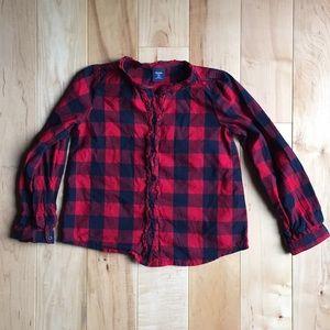 Gap button up plaid shirt